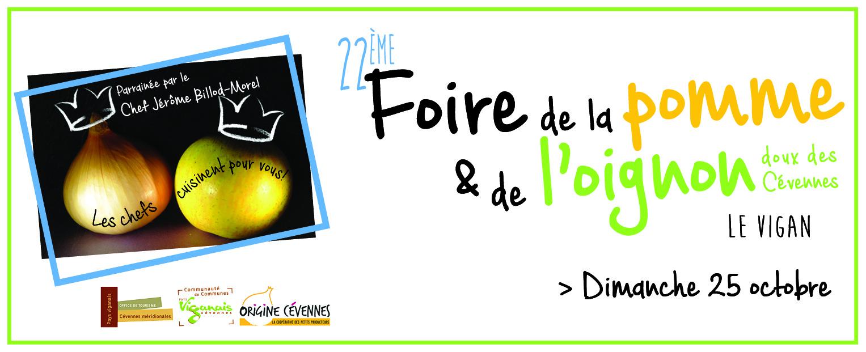Partenaire de la 22ème édition de la foire de la pomme et de l'oignon doux des Cévennes
