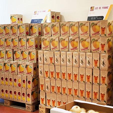 Cubi de jus de pomme Bio : en vente dans le magasin Origine Cévennes