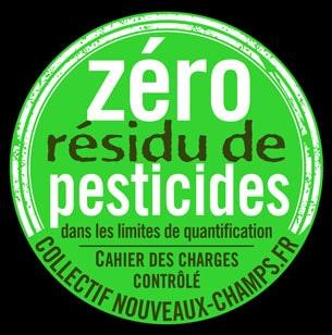 Logo pastille ZRP, zéro résidu de pesticides