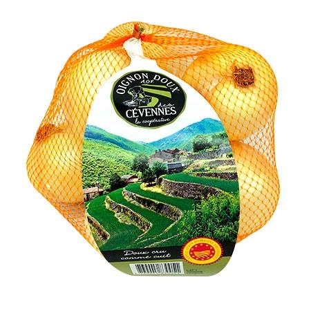 Oignons doux des Cévennes en filet 1Kg