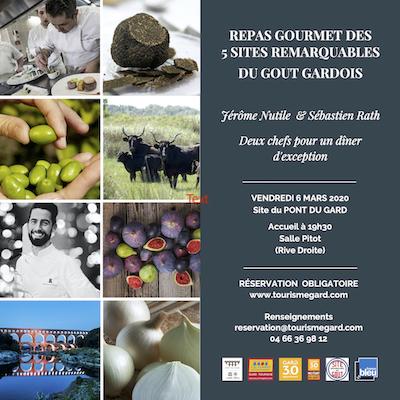 Menu gastronomique au Point du Gard par Jérôme Nutile et Sébastien Rath